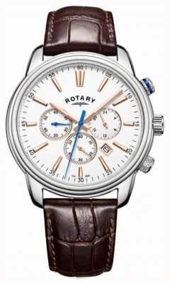 Rotary Cronografo bianco monaco sportivo uomo GS05083/06