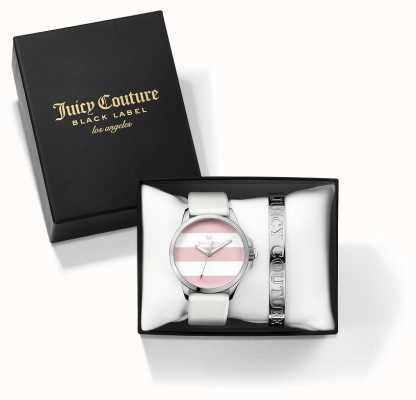 Juicy Couture Womans FERGI braccialetto d'argento bianco e guardare set regalo 1950009