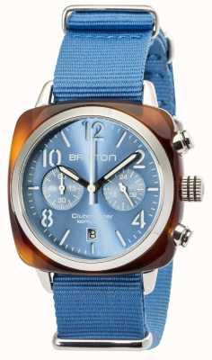 Briston Clubmaster classic da uomo crono in acetato tartaruga grigio 16140.SA.T.14.NLB