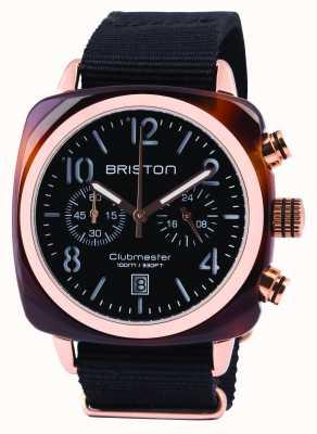 Briston Mens Clubmaster classico acetato crono nero 14140.PRA.T.1.NB