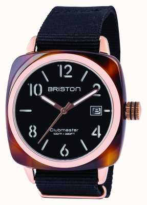 Briston Mens clubmaster classico acetato nero 13240.PRA.T.1.NB