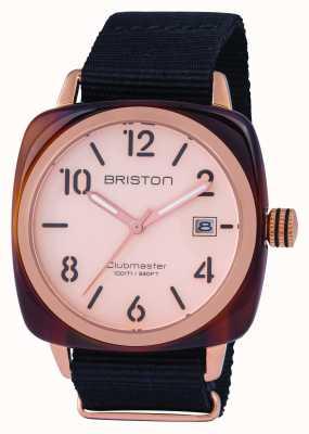 Briston Mens clubmaster classico oro rosa acetato 14240.PRA.T.6.NB