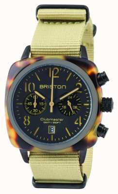Briston Mens cronografo clubmaster classico cronografo safari 14140.PBAM.TS.5.NK