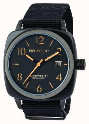Briston Mens clubmaster classico acetato hms nero opaco 14240.PBAM.B.4.NB