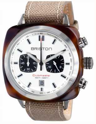 Briston Mens clubmaster sport acetato tartaruga guscio cronologico bianco 15142.SA.TS.2.LSK