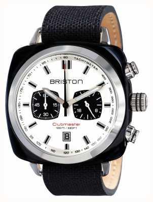 Briston Mens Clubmaster sportiva acetato crono nero 15142.SA.BS.2.LSB
