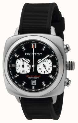 Briston Mens Clubmaster Sport Chrono acciaio nero 16142.S.SP.1.RB