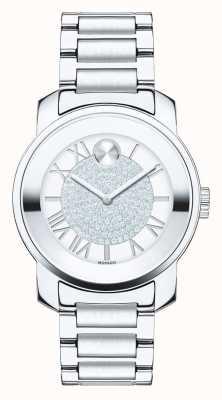 Movado Grassetto luxe silver medie cristallo k1 acciaio inossidabile 3600254