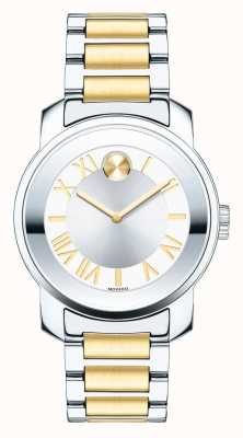 Movado Grassetto signore medie luxe cristallo k1 due toni 3600245