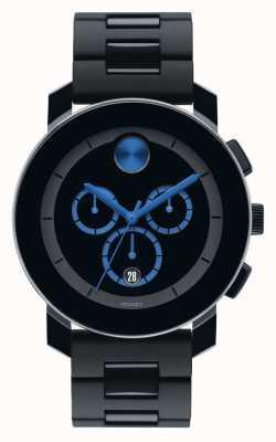 Movado Grassetto grande cronografo TR90 nero composito 3600101