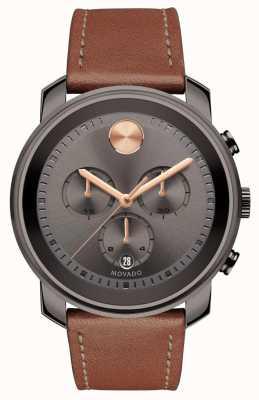 Movado Orologio uomo cronografo grigio cinturino orologio 3600421
