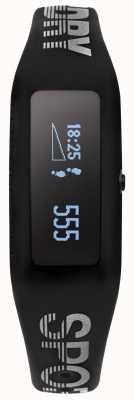 Superdry cinturino in silicone nero Unisex Fitness Tracker SYG202B
