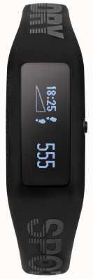 Superdry cinturino in silicone nero Unisex Fitness Tracker SYG202BB