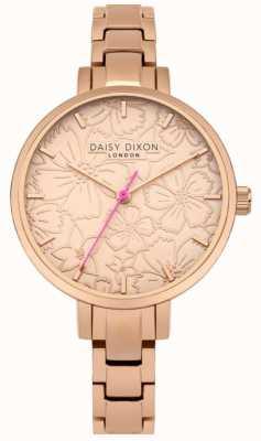 Daisy Dixon Womans leona stampa floreale quadrante in oro rosa DD043RGM