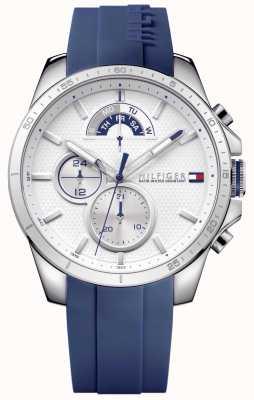 Tommy Hilfiger Orologi di bianco di gomma blu 1791349