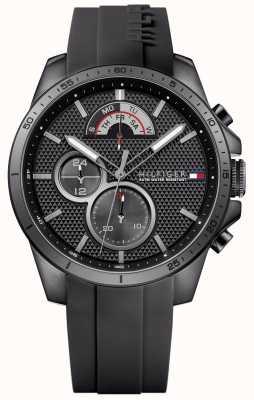 Tommy Hilfiger Mens gomma nera cronografo nera 1791352
