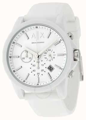 Armani Exchange Silicone bianco cronografo attivo uomo AX1325