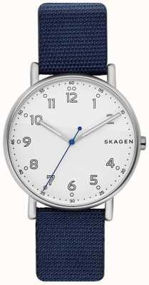 Skagen Quadrante bianco con cinturino blu SKW6356