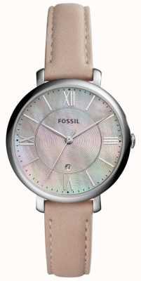 Fossil Womans Jacqueline mop quadrante cinturino in pelle rosa ES4151