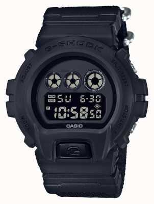 Casio Mens g-shock black out cinturino in stoffa DW-6900BBN-1ER
