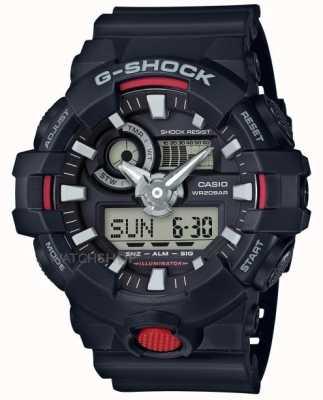 Casio Mens g-shock allarme cronografo nero GA-700-1AER