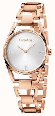 Calvin Klein Womans placcato oro rosa delicato K7L2364T