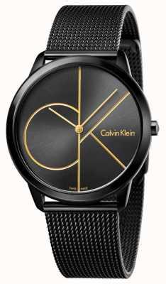 Calvin Klein Mensata minima in acciaio inox nero K3M214X1