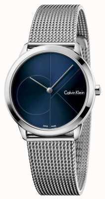 Calvin Klein Quadrante blu Womans minima in acciaio inox K3M2212N