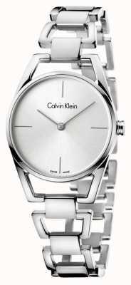 Calvin Klein Womans quadrante argento in acciaio inox delicato K7L23146