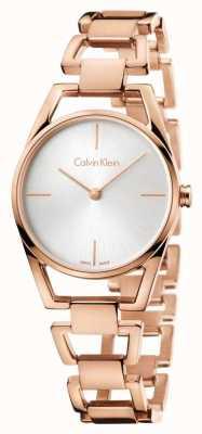 Calvin Klein Womans placcato oro rosa delicato K7L23646