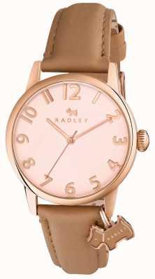 Radley Womans Liverpool Street cinturino in pelle marrone chiaro RY2458