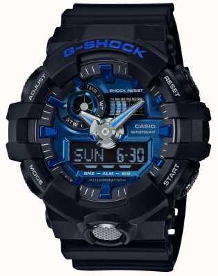 Casio Mens g-shock allarme cronografo blu GA-710-1A2ER