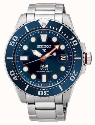 Seiko Mens PADI Prospex quadrante blu solare SNE435P1