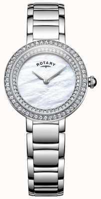 Rotary Womans pietra set orologio cocktail LB05085/41L