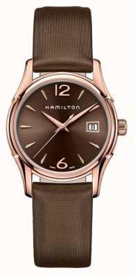 Hamilton Womans Jazzmaster 34 millimetri marrone H32341975