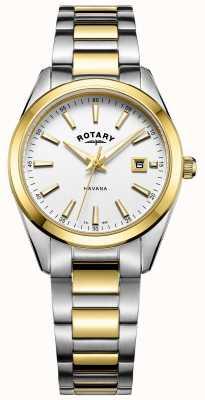 Rotary Womans havana | cinturino in acciaio bicolore | LB05080/02