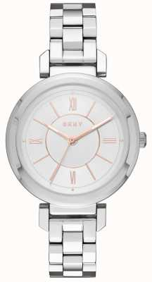 DKNY Womans Ellington orologio d'argento d'acciaio NY2582