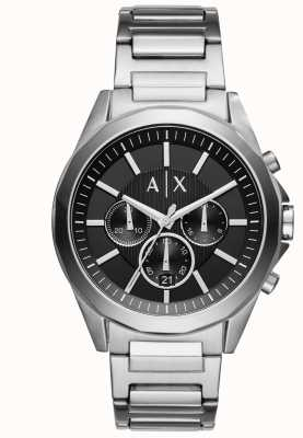 Armani Exchange Cronografo nero in acciaio inox AX2600