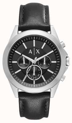 Armani Exchange Cronografo in pelle nera in pelle AX2604