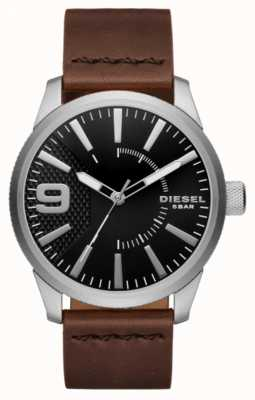 Diesel Mens nero e acciaio inossidabile DZ1802