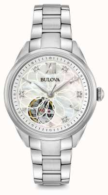 Bulova orologio di diamanti automatica delle donne 96P181