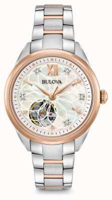 Bulova orologio di diamanti automatica delle donne 98P170