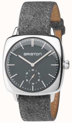Briston Cinturino in tessuto grigio quadrante grigio vintage vintage 17440.PS.V.17.LFG