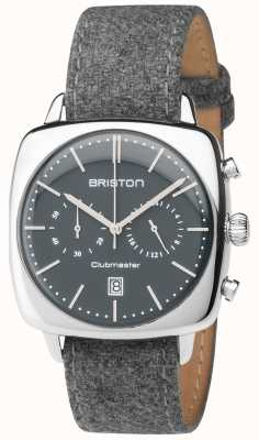 Briston quadrante grigio cinturino in tessuto grigio Mens Clubmaster epoca 17140.PS.V.17.LFG