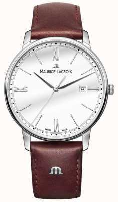 Maurice Lacroix Orologio da polso in pelle marrone Eliros EL1118-SS001-113-1