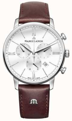 Maurice Lacroix Cuoio marrone cronografo uomo Eliros EL1098-SS001-112-1