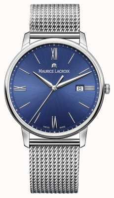 Maurice Lacroix Mens Eliros braccialetto cinturino in maglia azzurra EL1118-SS002-410-1