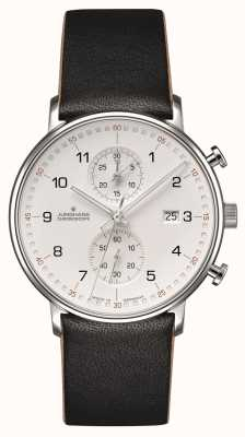 Junghans Forma c cinturino in cotone nero cronoscopio con numeri 041/4771.00
