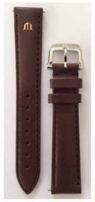 Maurice Lacroix Cinghia solamente in acciaio inossidabile da 16 mm cinturino in pelle marrone ML740-005003