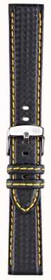 Morellato Cinghia solo - techno nero / giallo 22mm A01U3586977897CR22